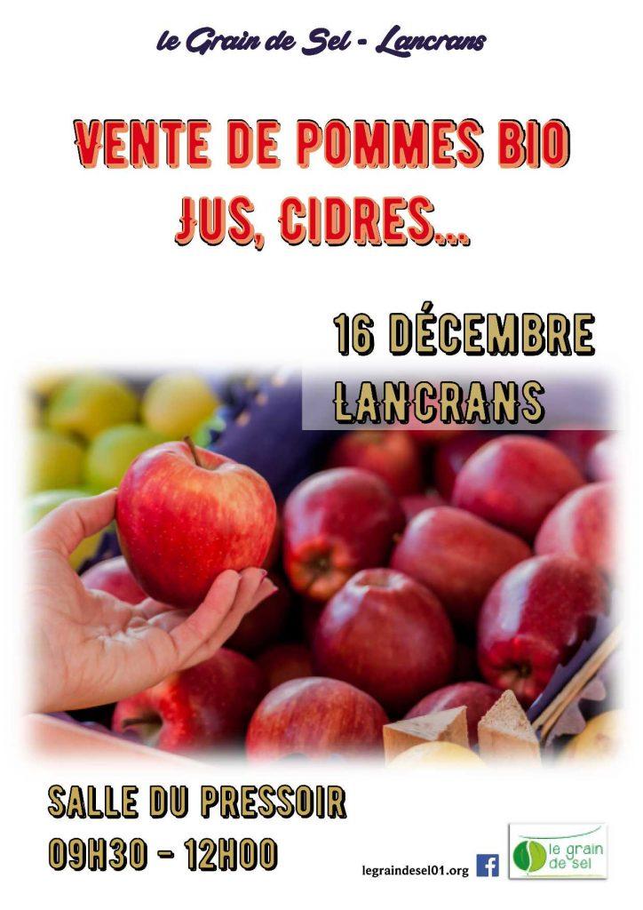 affiche Vente de pomme2
